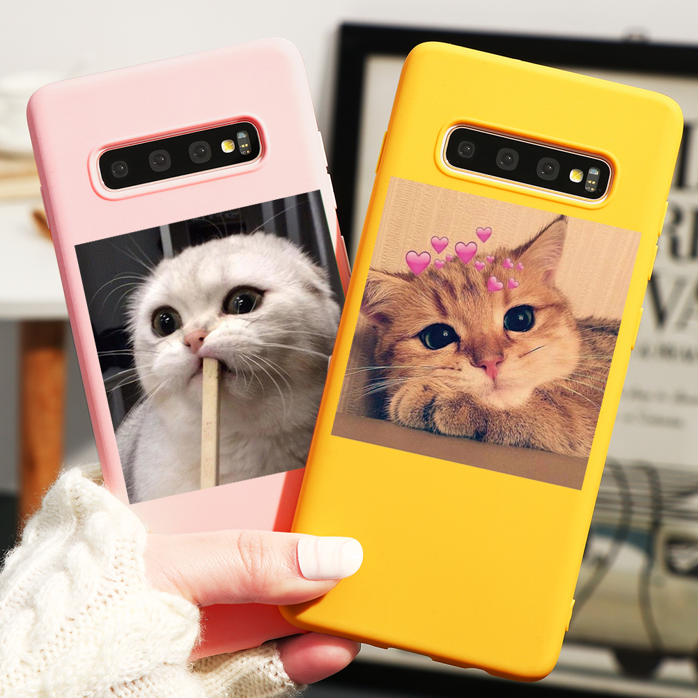 Cats Dog Cute Case For Coque Samsung Galaxy Note 10 8 9 A7 A9 A6 A8 Plus 2018 A51 A40 A50 A70 A71 A21 A10 Case Fundas Soft TPU