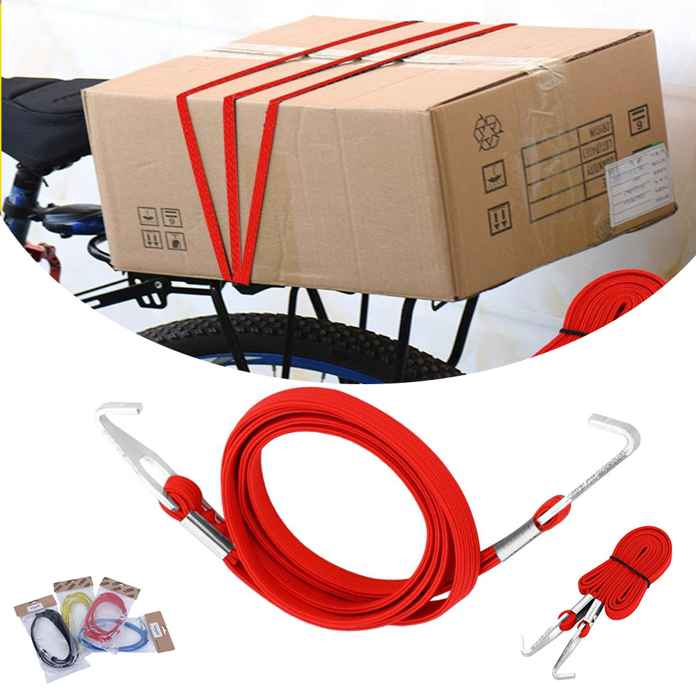 80cm Elastic Luggage Rope Bicycle Bike Cycling Hook Bandage Straps Belt Box Carry 50g Packing Rope Tie Equipment Accessories D40 in Bicycle Rack from Sports Entertainment