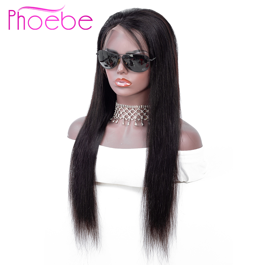 Phoebe 13x4 Lace Frontal Human Hair Wigs Brazilian Straight Lace Frontal Wig With Baby Hair For Black Women Non-Remy 130%Density