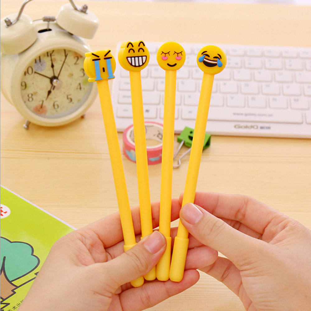 1Pcs Yellow Kawaii Lovely Gel Pens Stationery Writing Kids Student Office School Pen Stationery Supplies Tool