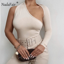 Nadafair Hollow Out Long Sleeve Sexy Bodysuit 2020 Pure Autu