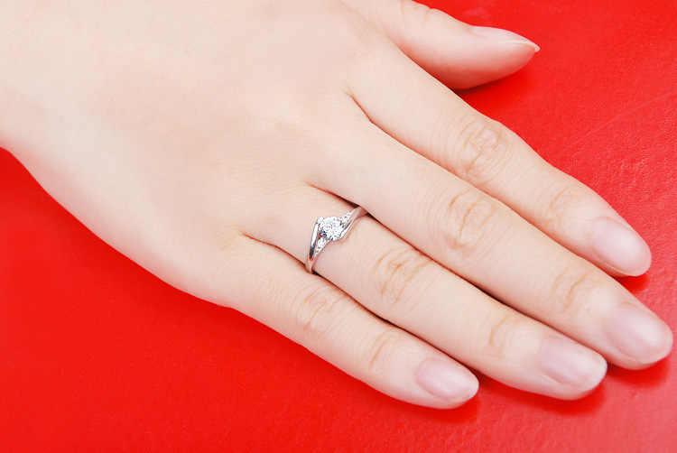 Geld verliezen promotie groothandel glanzende zirconia 925 Sterling zilveren ladies'wedding ringen sieraden gift