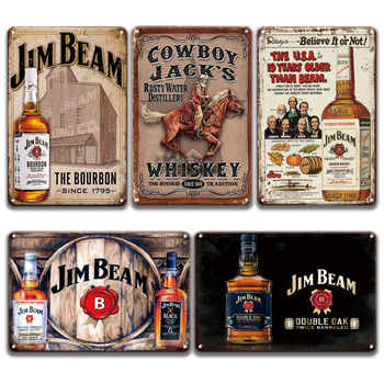 Vintage BOURBON WHISKEY Metal Wall Art Tin Sign Retro Poster Metal Signs Plaque Vintage Pub Bar Man Cave Home Decor dad s barbecue decorative signs beer bbq plaque metal vintage wall bar home art retro restaurant decor 30x20cm du 6034a
