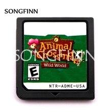 Animal crossing wild world 영어 프랑스어 독일어 이탈리아어 스페인어 비디오 게임 카트리지
