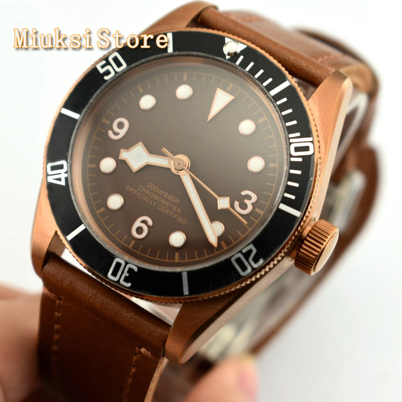 Fashion top mens waterproof watch CORGEUT 41mm sapphire glass sterile dial Seagull movement luminous mechanical watches