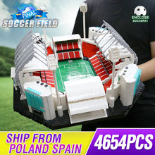4654PCS אבני בניין Creative צעצועי ישן Traffords Manchesters כדורגל שדה דגם ילדי לבנים צעצועים חינוכיים יום הולדת מתנות