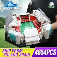 4654PCS 빌딩 블록 크리 에이 티브 장난감 오래 된 Traffords Manchesters 축구 필드 모델 벽돌 아이 교육 장난감 생일 선물