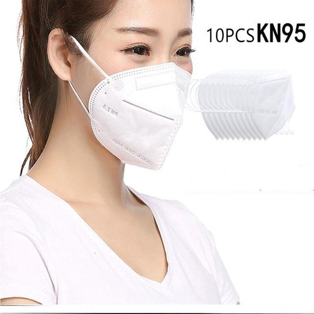 10/20PCS N95 Mask Antivirus Flu Anti Infection KN95 Masks Particulate Respirator PM2.5 Protective Safety Same as KF94 FFP2