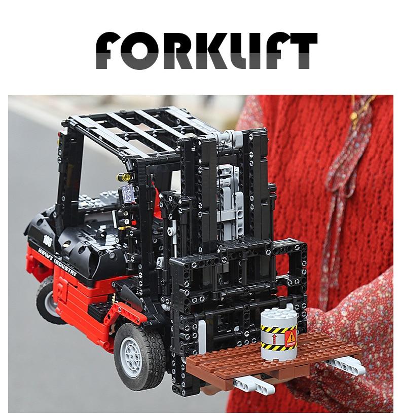 MOULD KING  Technic Motor Power Mobile Crane Mk II Building Block 16