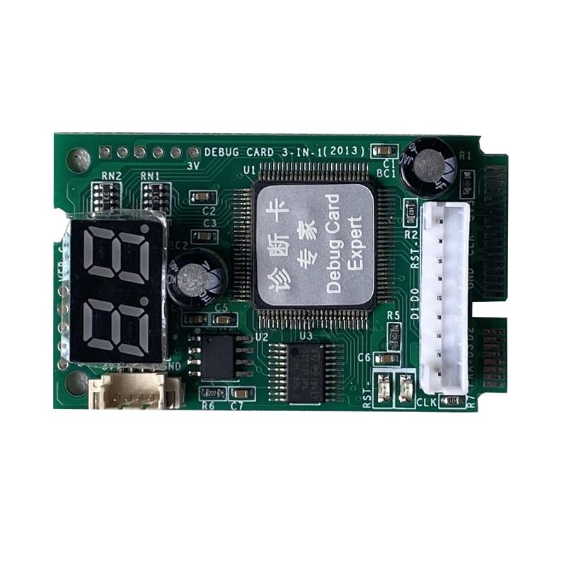 5 IN 1 PCI-E PCI LPC I2C ELPC Diagnostic Post Tester Card For Laptop Motherboard Guaranteed 100%