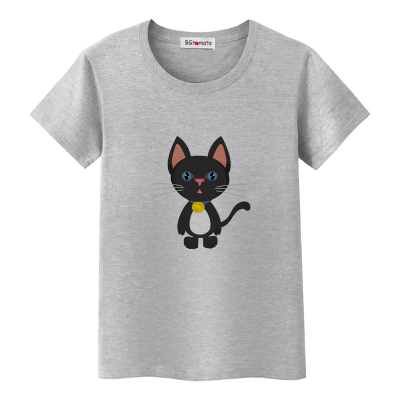 BGtomato Summer Tops Funny 3D CAT Print Women T-Shirt Female Camisetas Tops Loose Cartoon T Shirt Short Sleeve O-Neck Tees Tops