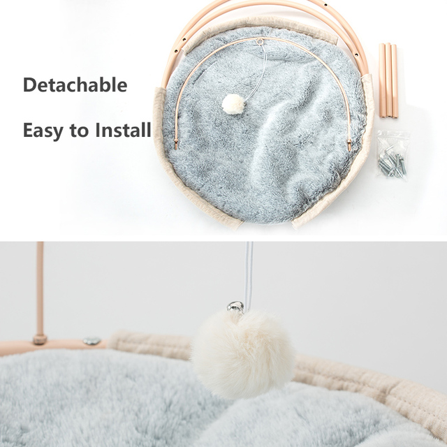 Hot Sale Pet Hammock Cats Beds Indoor Cat House Mat for Warm Small Dogs Bed Kitten Window Lounger Cute Sleeping Mats Products 4