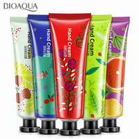 BIOAQUA 5Pcs/lot Plant Extract Fragrance Hand Cream Set Moisturizing Hydrating Nourishing Anti-chapping Whitening Skin Care Set