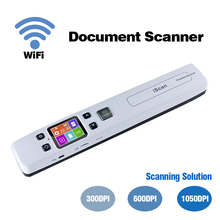 Mini Scanner portatile portatile A4 Scanner per documenti Display LCD Wireless Wifi USB Scanner penna per ricevute aziendali libri fotografici