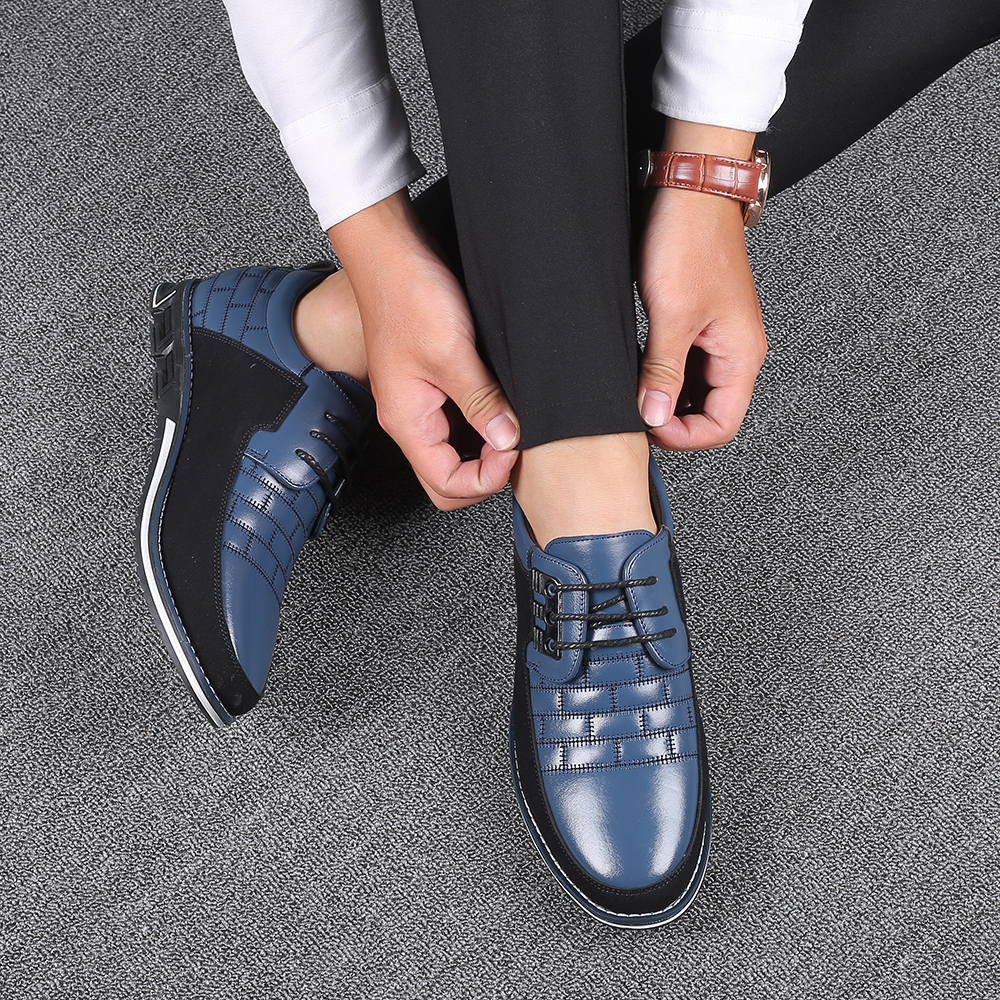 H9e38013364d34b84982f2b2a53335b92d 2019 New Big Size 38-48 Oxfords Leather Men Shoes Fashion Casual Slip On Formal Business Wedding Dress Shoes Men Drop Shipping
