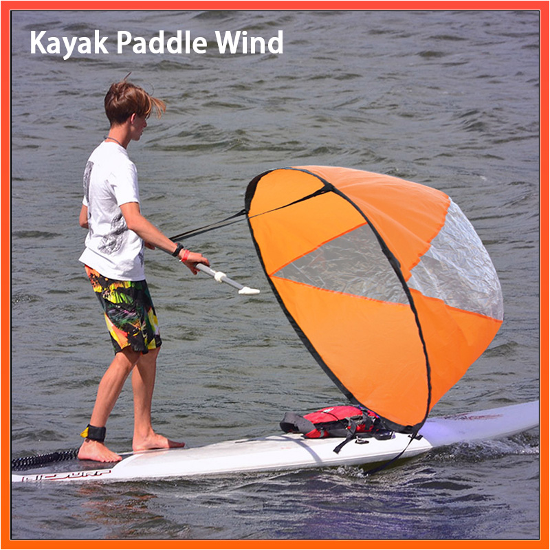 """Sailing Foldable Kayak Wind Paddle 42""""/108cm Board Sailing Canoe stroke Rowing Boats Clear Window Boat Marine Accessories"""