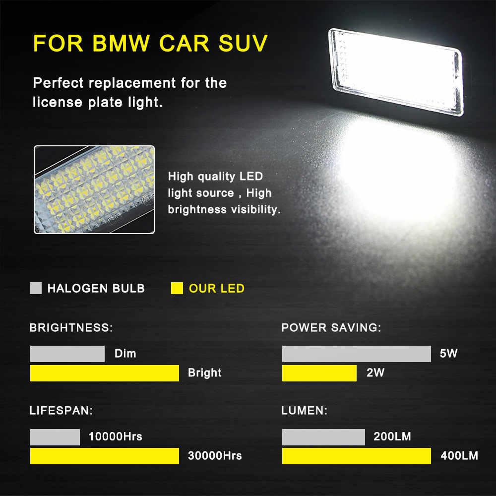 2 قطعة في Canbus Led رقم لوحة مصابيح لسيارة BMW E39 E60 M5 E70 X5 E90 E92 E93 M3 E91 E61 بجولة E71 E72 X6 اكسسوارات Led مصباح تلقائي
