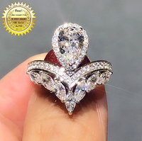 18K goldr ring 2ct DVVS moissanite ring Engagement&Wedding Jewellery with certificate 0063