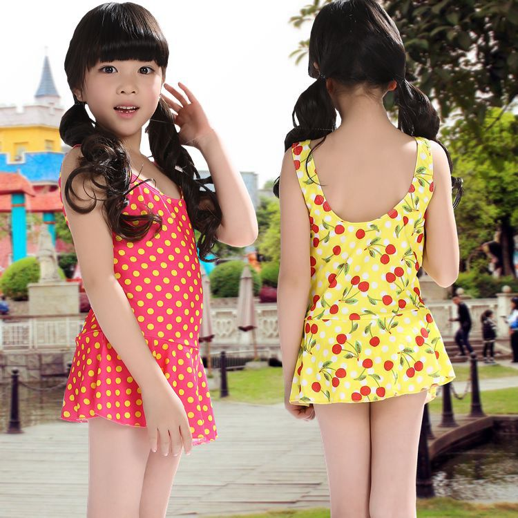 Hot Selling Swimwear 2019 New Style Baby Women's Children One-piece Large Children Swimsuit 4-9-Year-Old