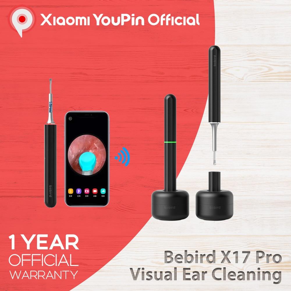 Youpin Bebird X17 Pro M9 Pro Smart Visual Ear Cleaning Endoscope Ear Wax Pick Kit Mini Camera Otoscope Borescope 33 in 1 Tool