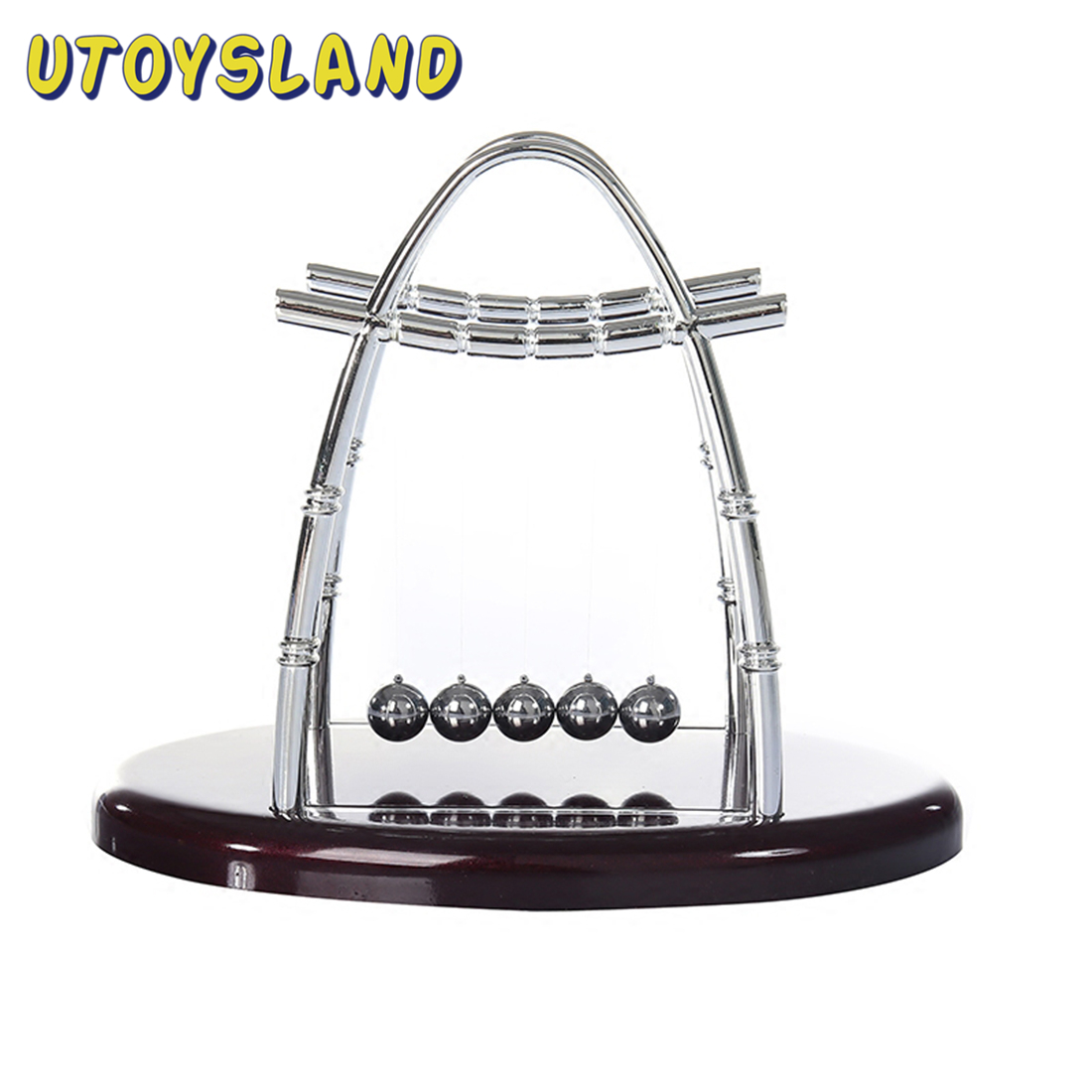 Arc Shaped Newton Cradle Balance Ball Science Puzzle Fun Desk Toy For Stress Reliever