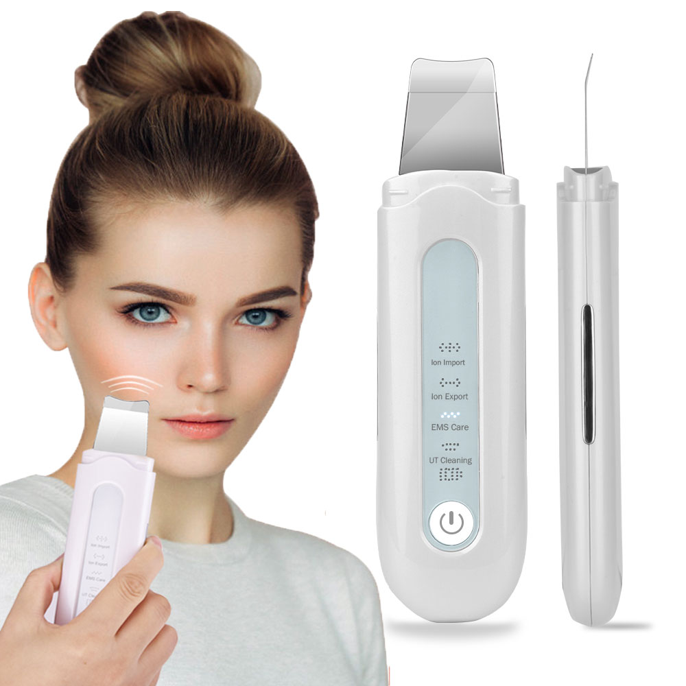 Blackhead Removal Skin Scrubber Ion Vibration Acne Exfoliating Peeling Spatula Ultrasonic Deep Face Cleaning  Pore Cleaner Tool