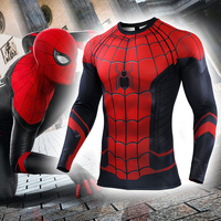 New Spider Man Far From Home Slim T shirt Spiderman Quick Drying Long Sleeve T Shirts Mens Spring Autumn Casual Clothes Top Tee