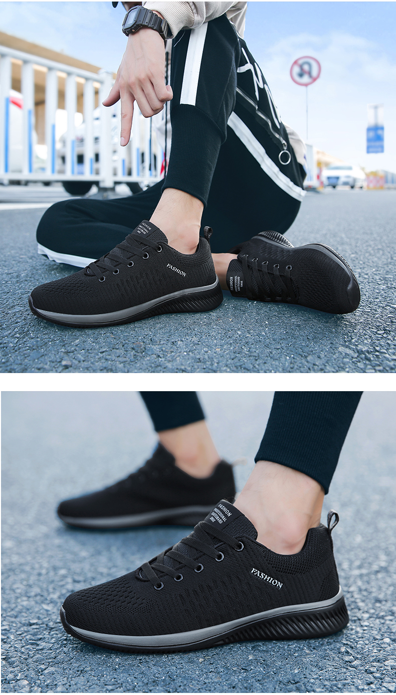 H9e389d373782451daa0c4da56bc14f2dg New Mesh Men Casual Shoes Lac-up Men Shoes Lightweight Comfortable Breathable Walking Sneakers Tenis masculino Zapatillas Hombre