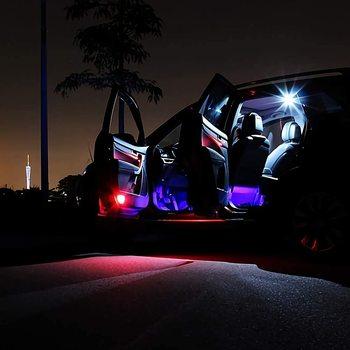 4 sztuk samochodów listwy RGB LED oświetlenie podłogowe wewnętrzna lampka Multicolor muzyka atmosfera dźwięk aktywny USB cygaro LED Strip oświetlenie LED tanie i dobre opinie Vexverm CN (pochodzenie) Klimatyczna lampa 4pcs 9 12 18 leds per strip Smart USB Port Lighter Cigarette Port Li Wireless Remote Control