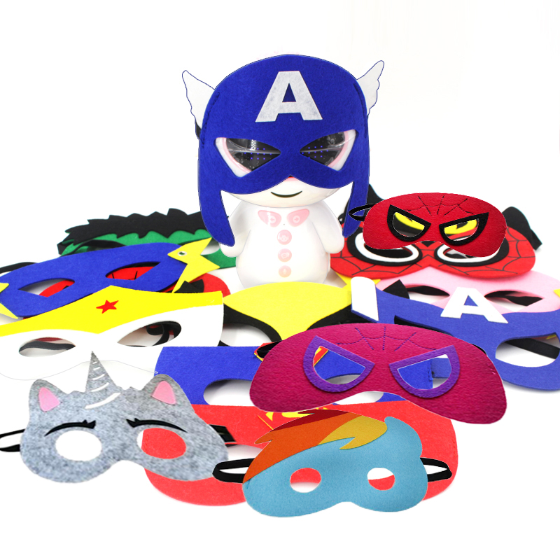2019 Superhero Cosplay Masks Halloween Party Dress Up Costume Mask Kids Adult Birthday Party Favor Gifts Supplies