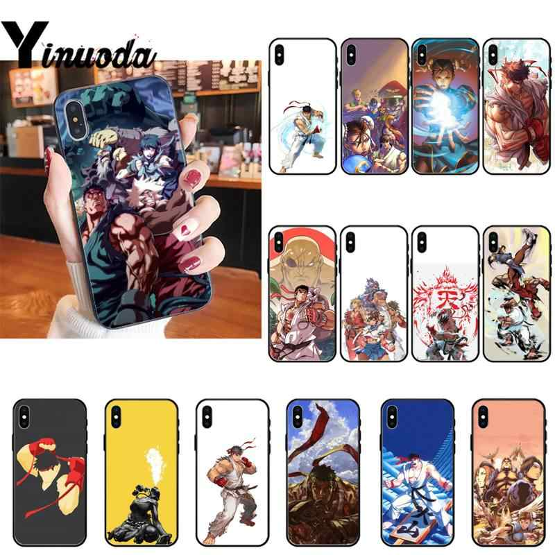 Funda de teléfono de Yinuoda Street Fighters para iPhone 8 7 6 6S Plus X XS MAX 5 5S SE XR 11 11pro promax