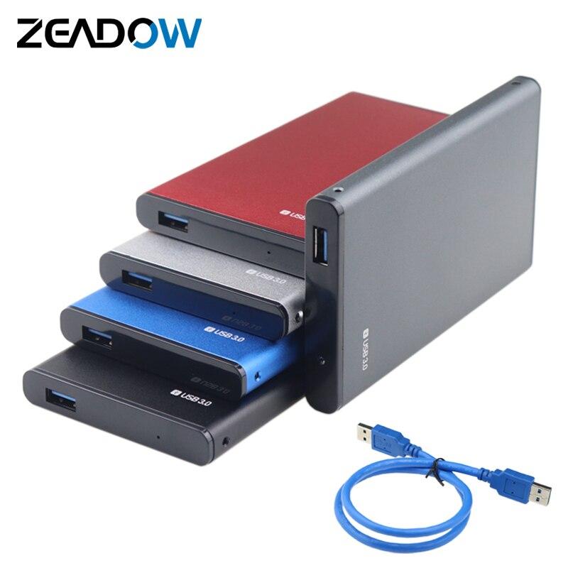 """Adaptador de caja de disco duro externo USB 3,0 a SATA, de aluminio, 2,5 """", carcasa de disco duro Ultra delgada para HDD/SSD de 2,5 pulgadas"""