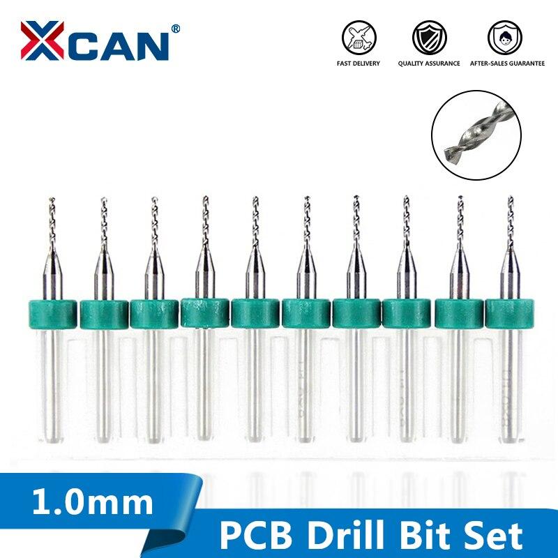 XCAN 1.0mm Carbide PCB Drill Bits Set