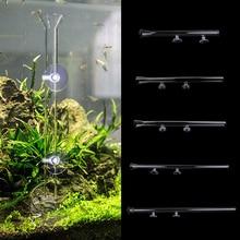 New Shrimp Feeding Food Tube with 2X Suction Cup, Glass Feeder Feeding for Aquarium Fish Tank 25/30/35/40/45cm Length