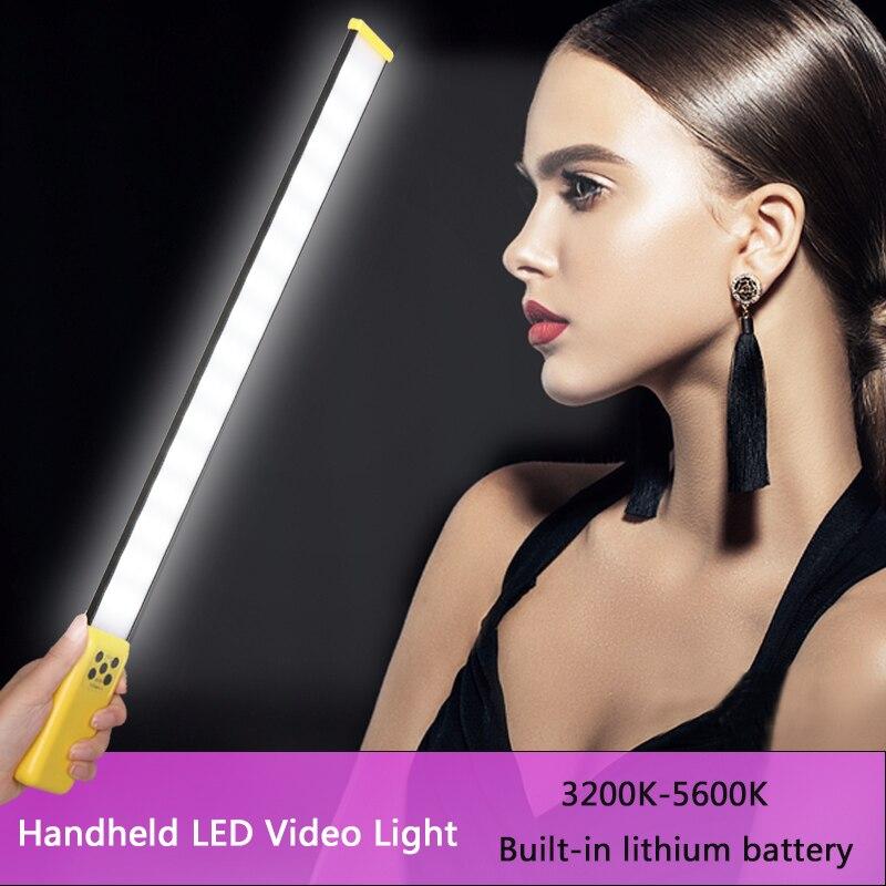 Bâton de glace tenu dans la main LED lumière vidéo professionnel LED photographie Vedio lumière de remplissage température de couleur réglable 3200K-5600K
