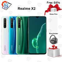 Original Realme X2 teléfono móvil 6,4 pulgadas Super AMOLED pantalla 6GB + 64GB Snapdragon 730G Cámara 64.0MP cuatro tomas NFC Smartphone