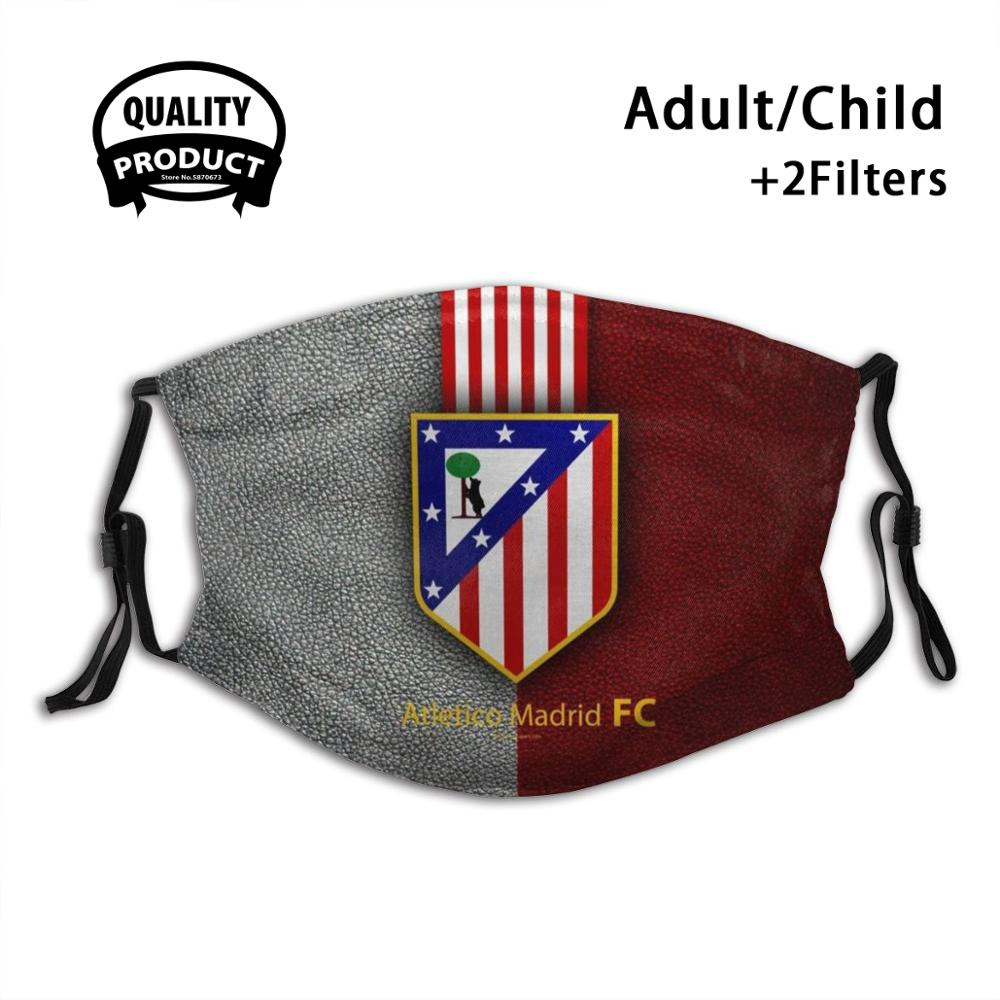 Atlético de madrid atlético de madrid anti poeira com filtro para crianças menina menino adolescentes máscaras