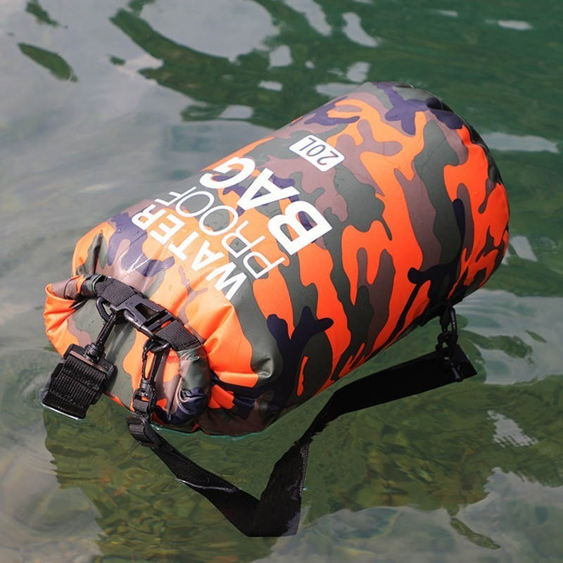 Airtight Upstream Backpack Swimming Waterproof Floating Shoulder Bag Lightweight Travel Hiking River Drift Life Color Camouflage