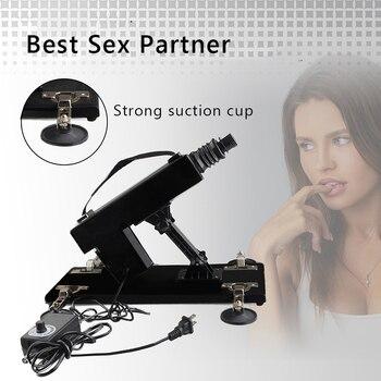 цена на JIUUY Sex Machine Female Masturbation Sexoshop Dildo Pumping Gun Automatic Retractable Sex Toys Sex Machines for Adults