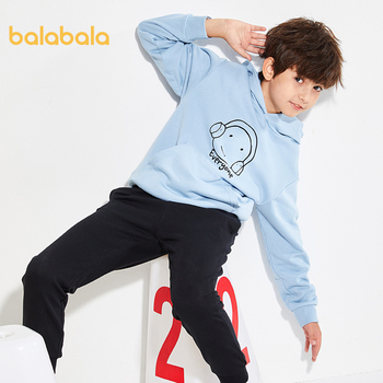 Balabala Children clothing boy sports suit 2020 spring new two-piece baby sweater