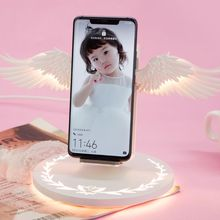 Dock Angel-Wings Mobile-Phone Qi Wireless-Charger Universal 10W New Fast LED for Pro-X-Xr