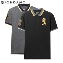 Giordano Men Polo-Shirt Short-Sleeve Embroidered-Pattern Hombre Fashion Brand Summer
