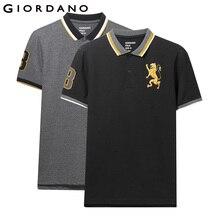 Giordano masculino polo camisa pacote de 2 padrão bordado moda polo masculino elástico manga curta polos para hombre marca verão topos