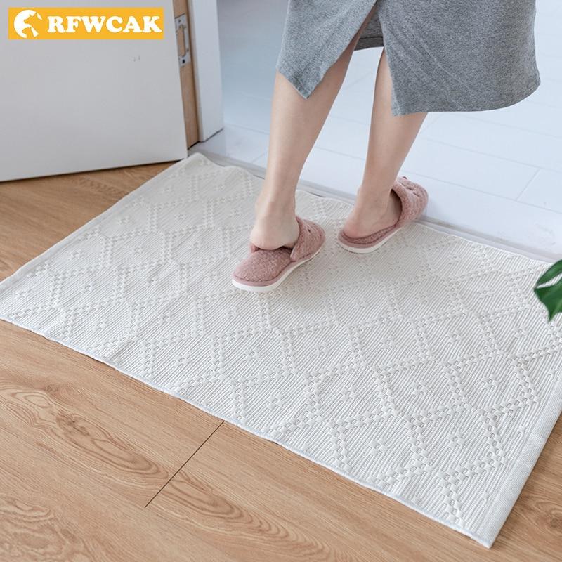 Nordic Soft White Wave Cotton Carpets For Living Room Bedroom Floor Door Mat Simple Home Carpet Area Rug Mats Tapete Para Sala