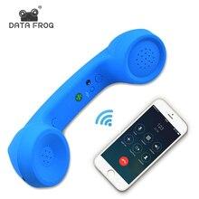 Dados sapo sem fio retro telefone fone de ouvido e com fio fone de ouvido receptor para um telefone móvel com chamada confortável