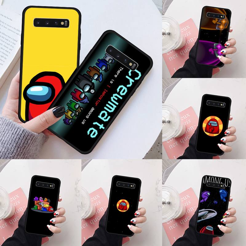 Among us hot funny game Phone Case For Samsung Galaxy S5 S6 S7 S8 S9 S10 S10e S20 edge plus lite