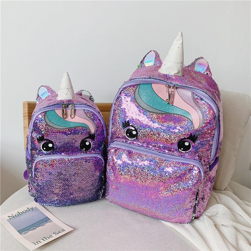 Image 5 - Unicorn Sequin Schoolbag Multi Color Kids School Bags for Girls Backpack Mochila Escolar Book School Bag for Teenager StudentSchool Bags   -