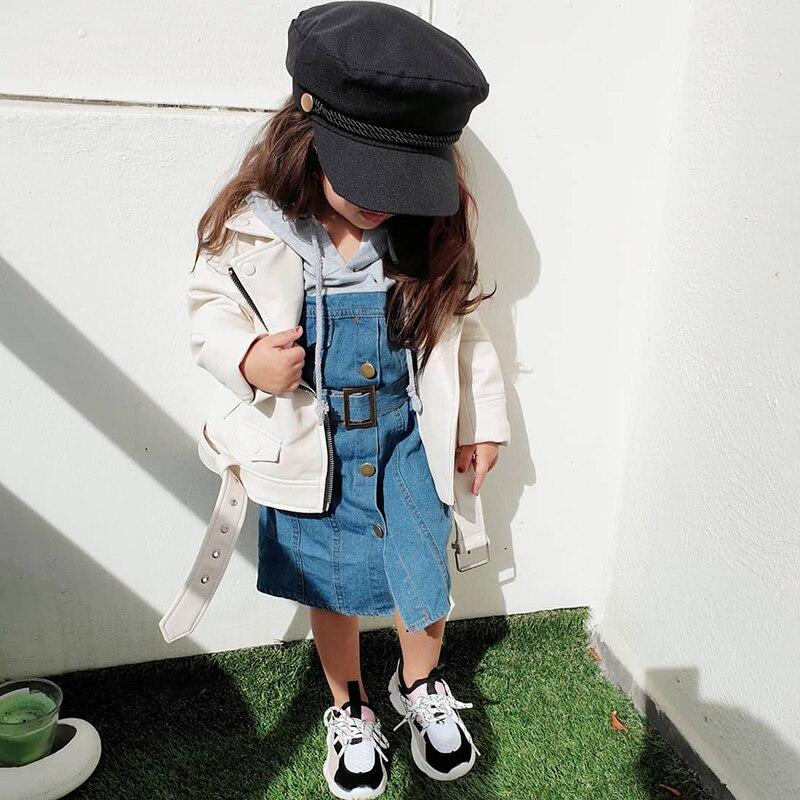 Fashion Girls Jackets And Coats Kids PU Leather Jackets Boys Leather Coat Spring Autumn Jackets For Girls Children Zipper Jacket