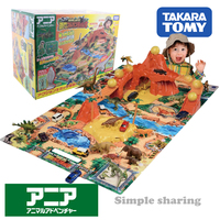 takara tomy tomica ania dinosaur adventure park model kit diecast funny educational toys for children hot pop kids dolls magic