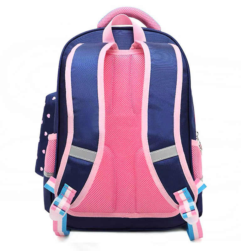 OKKID elementare sacchetti di scuola per le ragazze del puntino di polka bookbag bambini carino matita della penna del sacchetto di scuola della ragazza studente di scuola dello zaino del bambino regalo